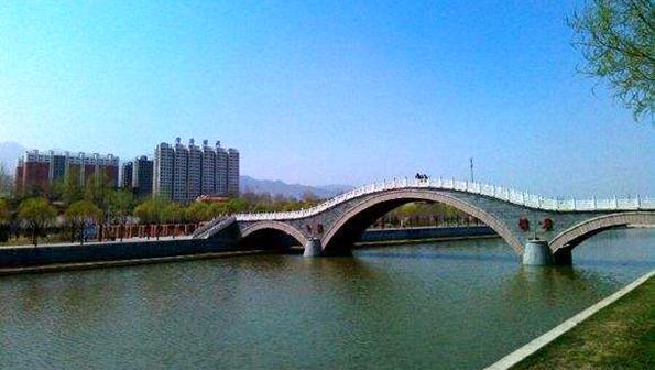 山西灵丘唐河公园文化墙改造项目